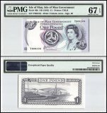 Isle of Man 1 Pound, 1983, P-40b, PMG 67