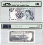 Isle of Man 1 Pound, 1983, P-40b, PMG 68