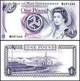 Isle of Man 1 Pound Banknote, 1983, P-40b, UNC
