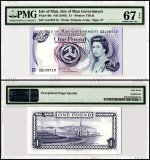 Isle of Man 1 Pound, 1983, P-40c, PMG 67