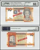 Jersey 10 Pounds, ND 2010, P-34s, CD Series, Queen Elizabeth II, Specimen, PMG 66