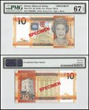 Jersey 10 Pounds, ND 2010, P-34s, CD Series, Queen Elizabeth II, Specimen, PMG 67