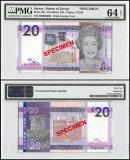 Jersey 20 Pounds, ND 2010, P-35s, BD Series, Queen Elizabeth II, Specimen, PMG 64