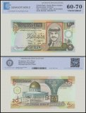 Jordan 20 Dinar Banknote, 1992, P-27, UNC, TAP Authenticated