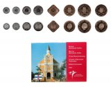 Netherlands Antilles 1 Cent - 5 gulden, 8 Piece Full Coin Set, 2004, Mint, Monument