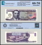 Philippines 100 Piso Banknote, 2011, P-212B, UNC, TAP Authenticated