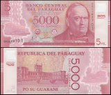 Paraguay 5,000 Guaranies Banknote, 2011, P-234, UNC, Polymer