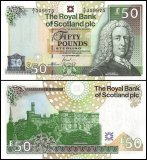 Scotland 50 Pounds Banknote, P-367, 2005, UNC