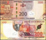 Swaziland - Eswatini 200 Emalangeni Banknote, 2017, P-43a, UNC
