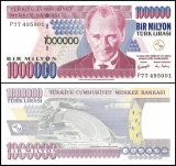 Turkey 1 Million Lira Banknote, 2002, P-213, Prefix-P, UNC