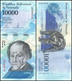 Venezuela 10,000 Bolivar Fuerte Banknote, 2016-17, Replacement, Used
