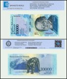 Venezuela 10,000 Bolivar Fuerte Banknote, 2017, P-98b, UNC, TAP Authenticated