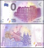 Zero Euro Europe Banknote, 2017, 1st Print, UNC, Teo Otto Theater in Germany