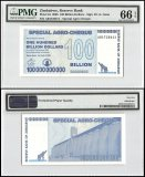 Zimbabwe 100 Billion Dollars Special Agro Cheque, PMG 66