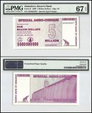 Zimbabwe 5 Billion Dollars Special Agro Cheque, 2008, P-61, PMG 67