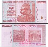 Zimbabwe 5 Billion Dollars Banknote, 2008, P-84, UNC