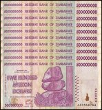 Zimbabwe 500 Million Dollars X 10 Pieces, AA/AB 2008, P-82, Damaged