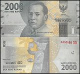 Indonesia 2000 - 2,000 Rupiah Currency, 2016, P-155, UNC,Mohammad Hoesni Thamrin