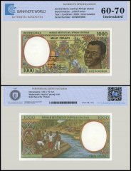 Central African States - Congo 1,000 Francs Banknote, 2000, P-102Cg, UNC, TAP 60 - 70 Authenticated