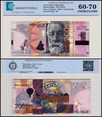 KBA Giori Jules Verne Banknote, 2005, Specimen, UNC, TAP 60-70 Authenticated