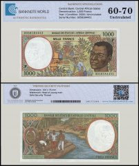 Central African States - Chad 1,000 Francs Banknote, 2000, P-602Pg, UNC, TAP 60 - 70 Authenticated
