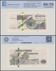 Algeria 500 Dinar Banknote, 2018, P-NEW, UNC, TAP Authenticated