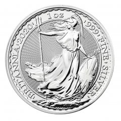 2020 Great Britain 1 oz Silver Britannia BU