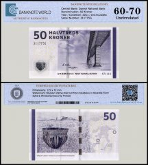 Denmark 50 Kroner Banknote, 2011, P-65d, UNC, TAP 60 - 70 Authenticated