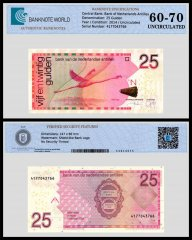 Netherlands Antilles 25 Gulden Banknote, 2014, P-29H, UNC, TAP 60 - 70 Authenticated