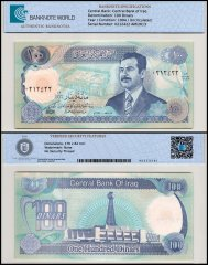 Iraq 100 Dinars Banknote, 1994, P-84a, UNC, TAP 60-70 Authenticated