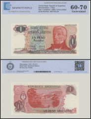 Argentina 1 Peso Banknote, 1983, P-311a, UNC, TAP 60 - 70 Authenticated