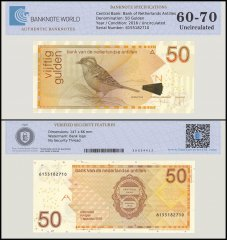 Netherlands Antilles Banknote 50 Gulden, 2016, P-30, UNC, TAP Authenticated