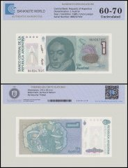 Argentina 1 Austral Banknote, 1985-89, P-323b, UNC, TAP 60 - 70 Authenticated