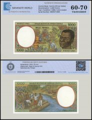 Central African States - Congo 1,000 Francs Banknote, 1999, P-302Ff, UNC, TAP 60 - 70 Authenticated