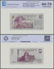 Haiti 10 Gourdes Banknote, 2004, P-272a, UNC, TAP 60 - 70 Authenticated