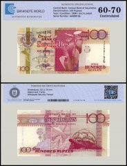 Seychelles 100 Rupees Banknote, 1998, P-39, UNC, TAP Authenticated