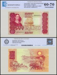 South Africa 50 Rands Banknote, 1990, P-122b, UNC, TAP Authenticated