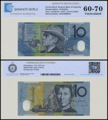 Australia 10 Dollars Banknote, 2013, P-58g, UNC, TAP 60 - 70 Authenticated