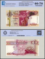Seychelles 100 Rupees Banknote, 2001, P-40a, UNC, TAP 60 - 70 Authenticated