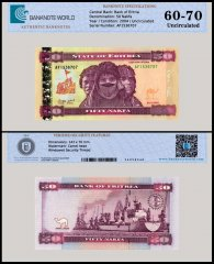 Eritrea 50 Nakfa Banknote, 2004, P-7, UNC, TAP 60 - 70 Authenticated