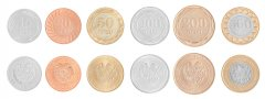 Armenia 10 - 500 Dram, 6 Piece Coin Set, 2003-2004, KM # 97-112, Mint