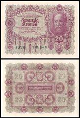 Austria 1000 Kronen 1922 Pick 78 aUNC Almost Uncirculated