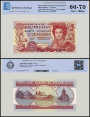 Falkland Islands 5 Pounds Banknote, 2005, P-17a, UNC, TAP Authenticated