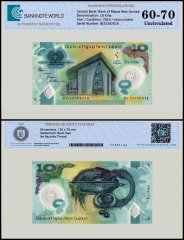 Papua New Guinea 10 Kina Banknote, 2015, P-48, UNC, TAP 60-70 Authenticated
