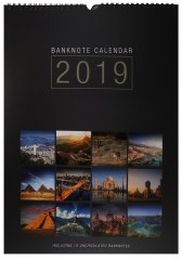 Banknote Calendar 12 Banknotes from Mixed Countries, 2019, UNC, Countries