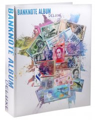 Banknote World Deluxe Album, With 300 Built in Clear Pockets, Currency Collecting - Accessories
