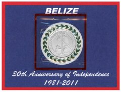 Belize 2 Dollars 8g Copper Nickle Coin, 2011, Mint, KM # 37, UNPACKAGED