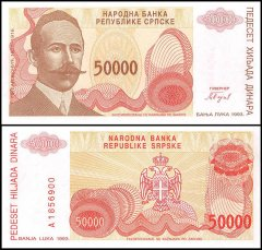 Bosnia /& Herzegovina 1000 Dinara Banknote World Paper Money UNC Bill Note