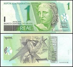 Brazil 1 Real Banknote, 2003, P-251a, UNC
