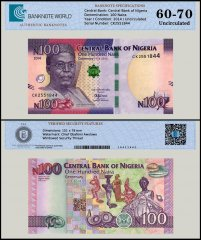 Nigeria 100 Naira Banknote, 2014, P-41a, UNC, TAP 60 - 70 Authenticated